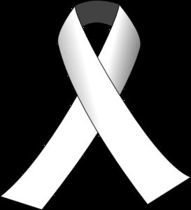 White awareness ribbon clipart svg freeuse White Awareness Ribbon Clip Art at Clker.com - vector clip ... svg freeuse