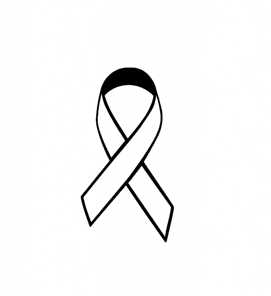 White awareness ribbon clipart picture freeuse Awareness ribbon clipart black and white 3 » Clipart Portal picture freeuse