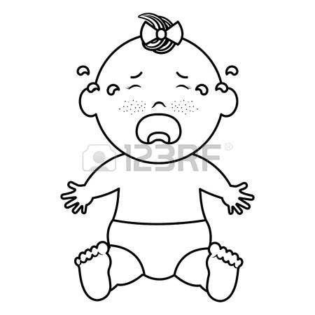 White baby cry clipart vector transparent Black Baby Crying Cartoon vector transparent