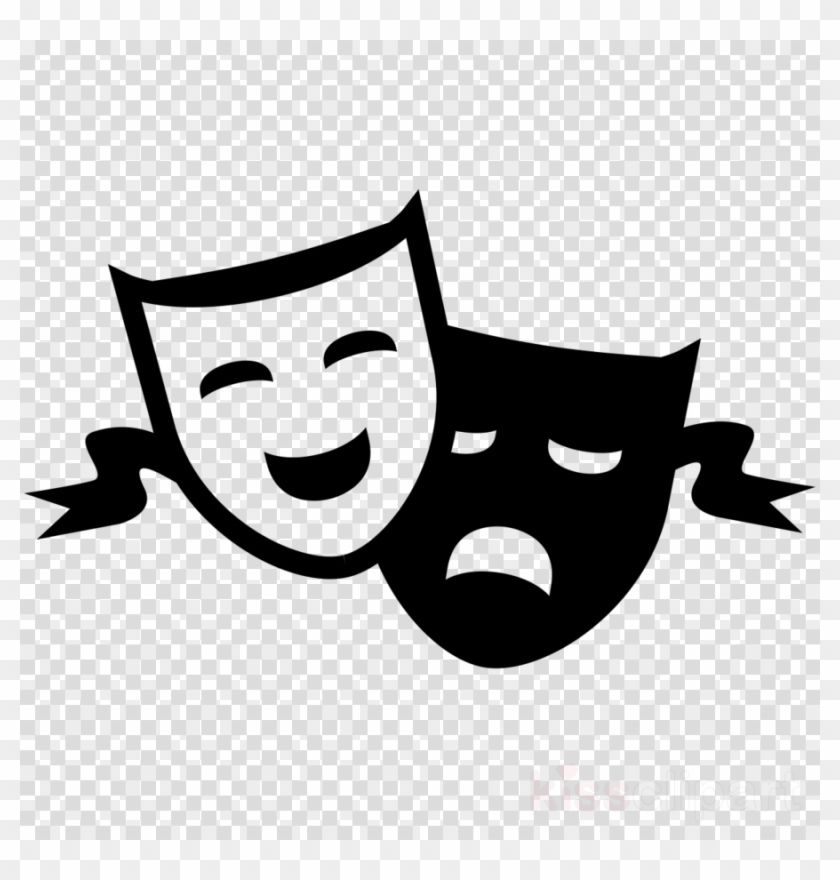 White background clipart download image black and white download Download Drama Masks No Background Clipart Theatre ... image black and white download