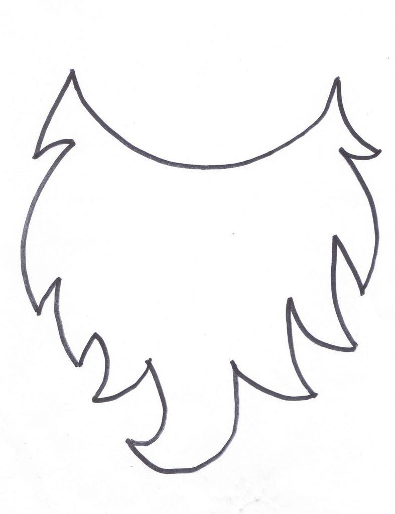 White beard cut out clipart vector freeuse Beard printable | Kids | Beard costume, Gnome costume, Beard art vector freeuse