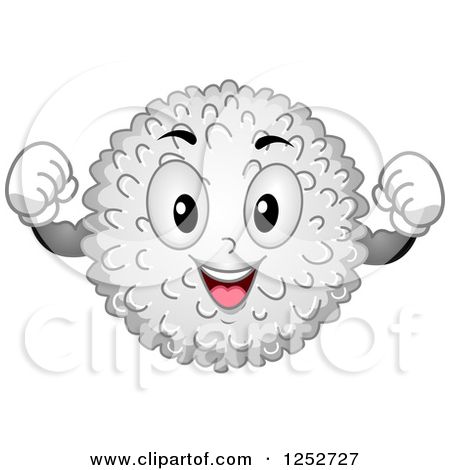 White blood cell clipart vector black and white Clipart of a Strong White Blood Cell Character Flexing - Royalty ... vector black and white