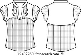 White blouse clipart graphic Blouse clipart black and white 1 » Clipart Station graphic