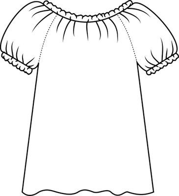 White blouse clipart png library Blouse clipart black and white 2 » Clipart Portal png library