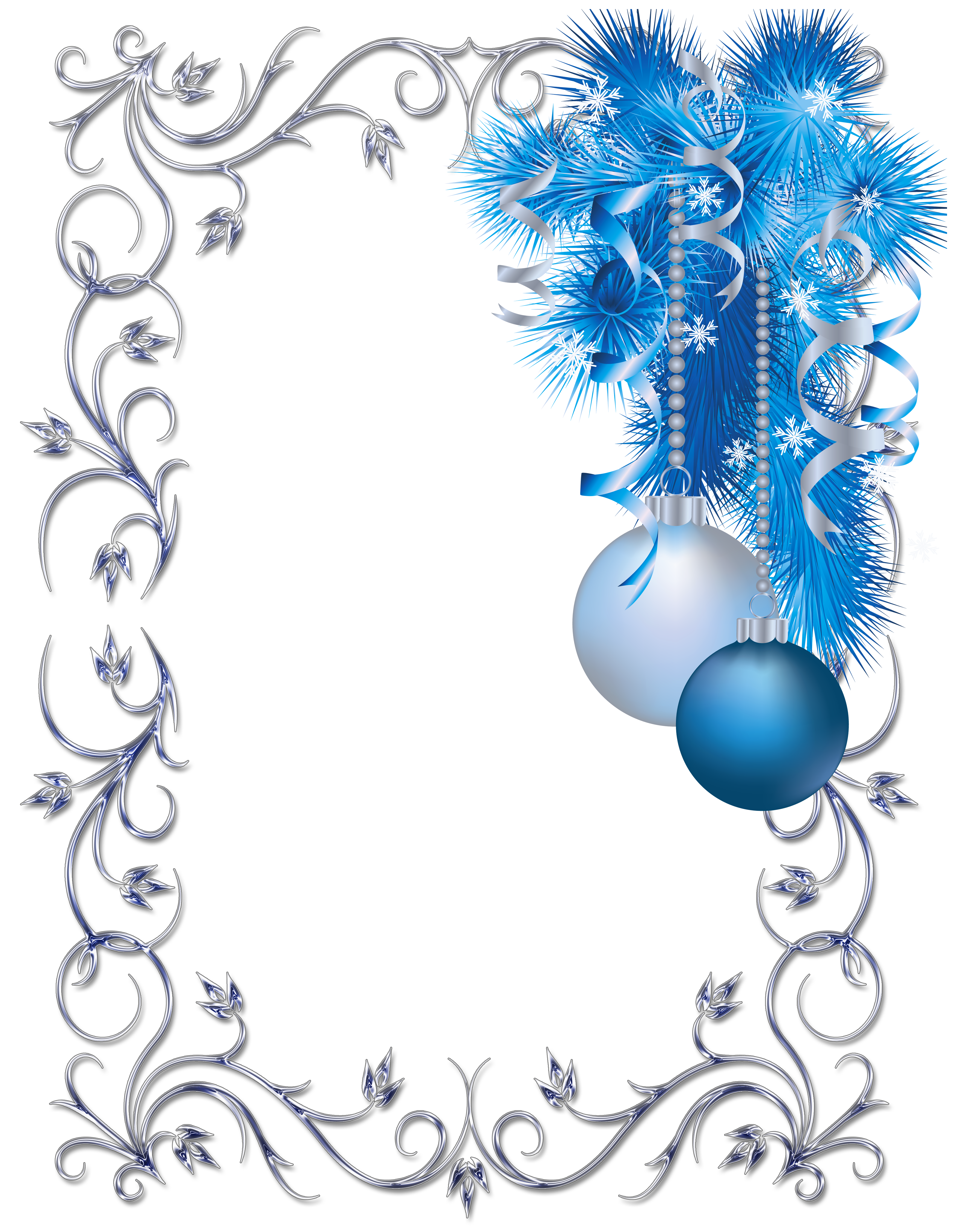 White blue christmas clipart