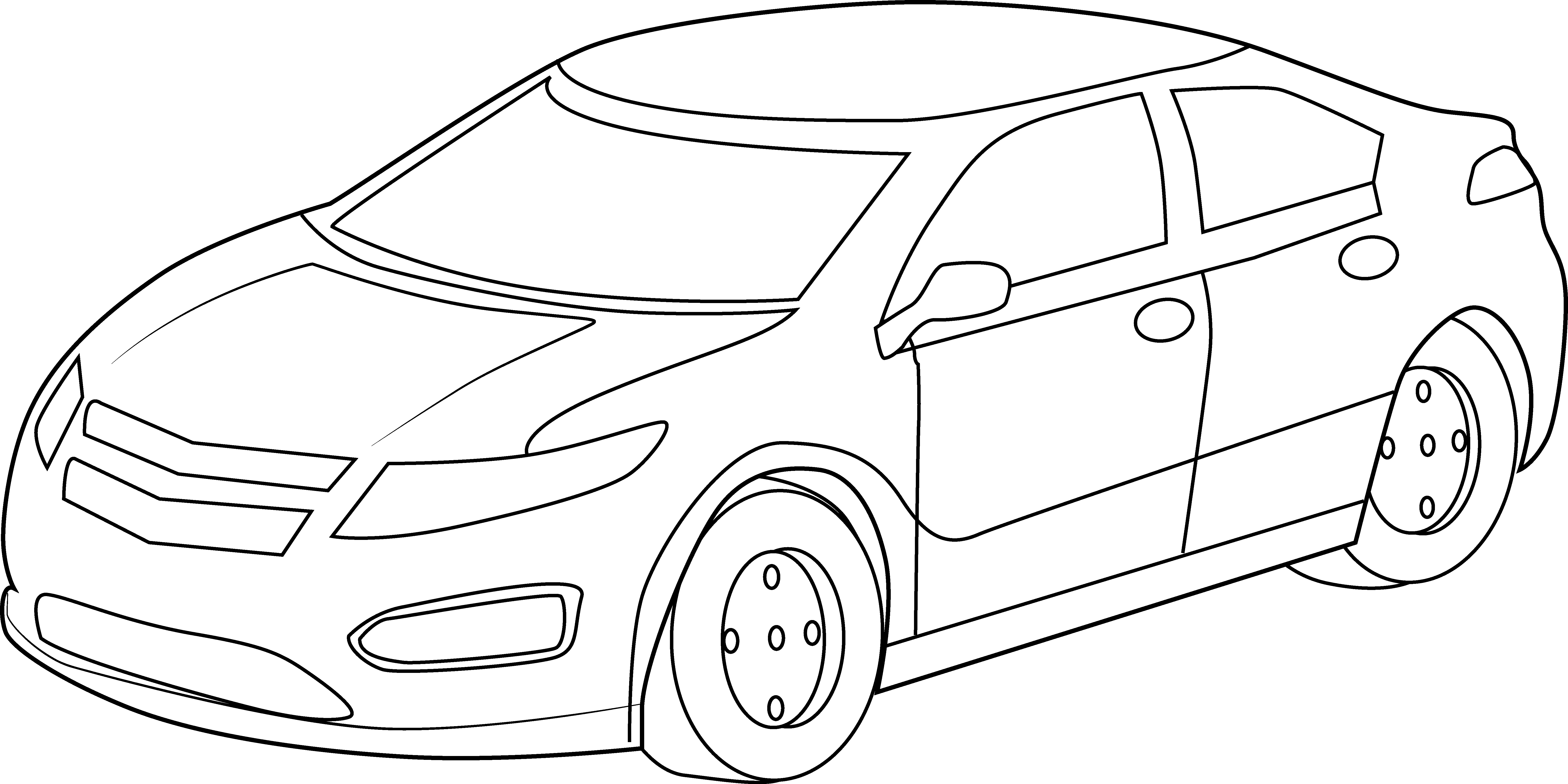 White car clipart top image royalty free Best Car Clipart Black And White #13217 - Clipartion.com image royalty free