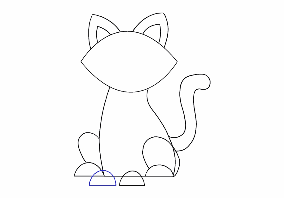 White cat tail clipart banner How To Draw Simple Cat - Drawing Free PNG Images & Clipart ... banner