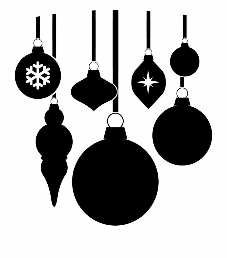 White christmas ornament clipart free clip art royalty free Clip Free Library Big Image Png - Black And White Christmas ... clip art royalty free