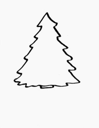 White clipart christmas tree jpg stock Free Christmas Tree Clip Art Black And White, Download Free ... jpg stock