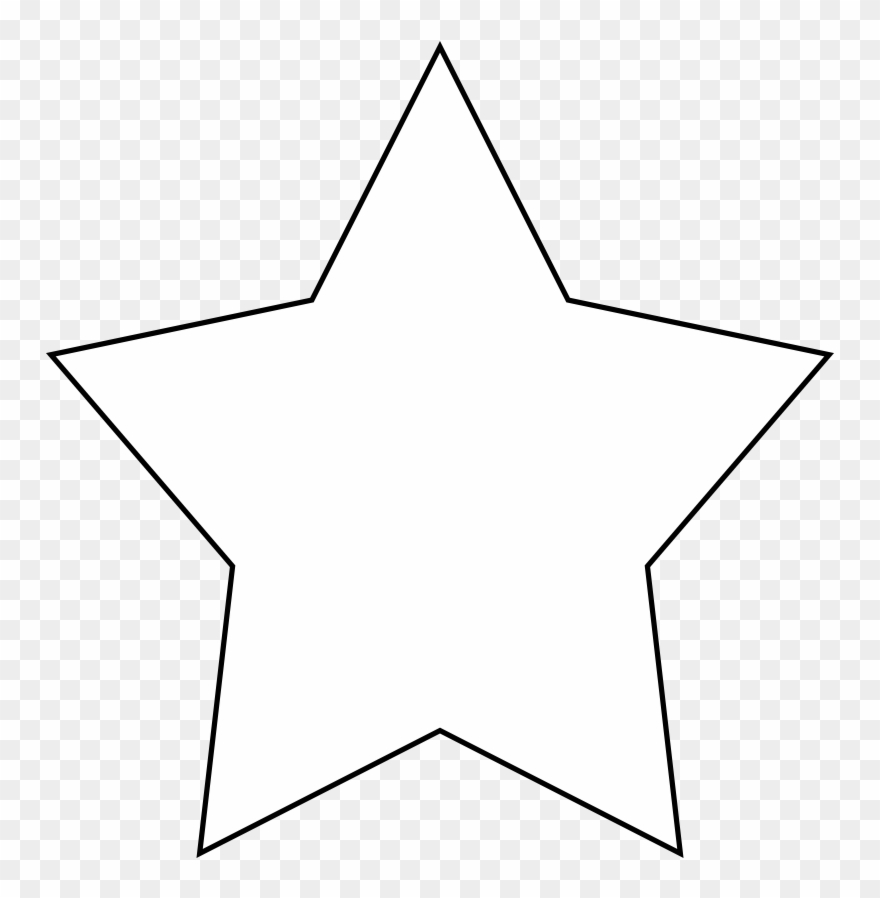 White clipart transparent png free stock 5-point Star Clipart - Transparent Background White Star ... png free stock