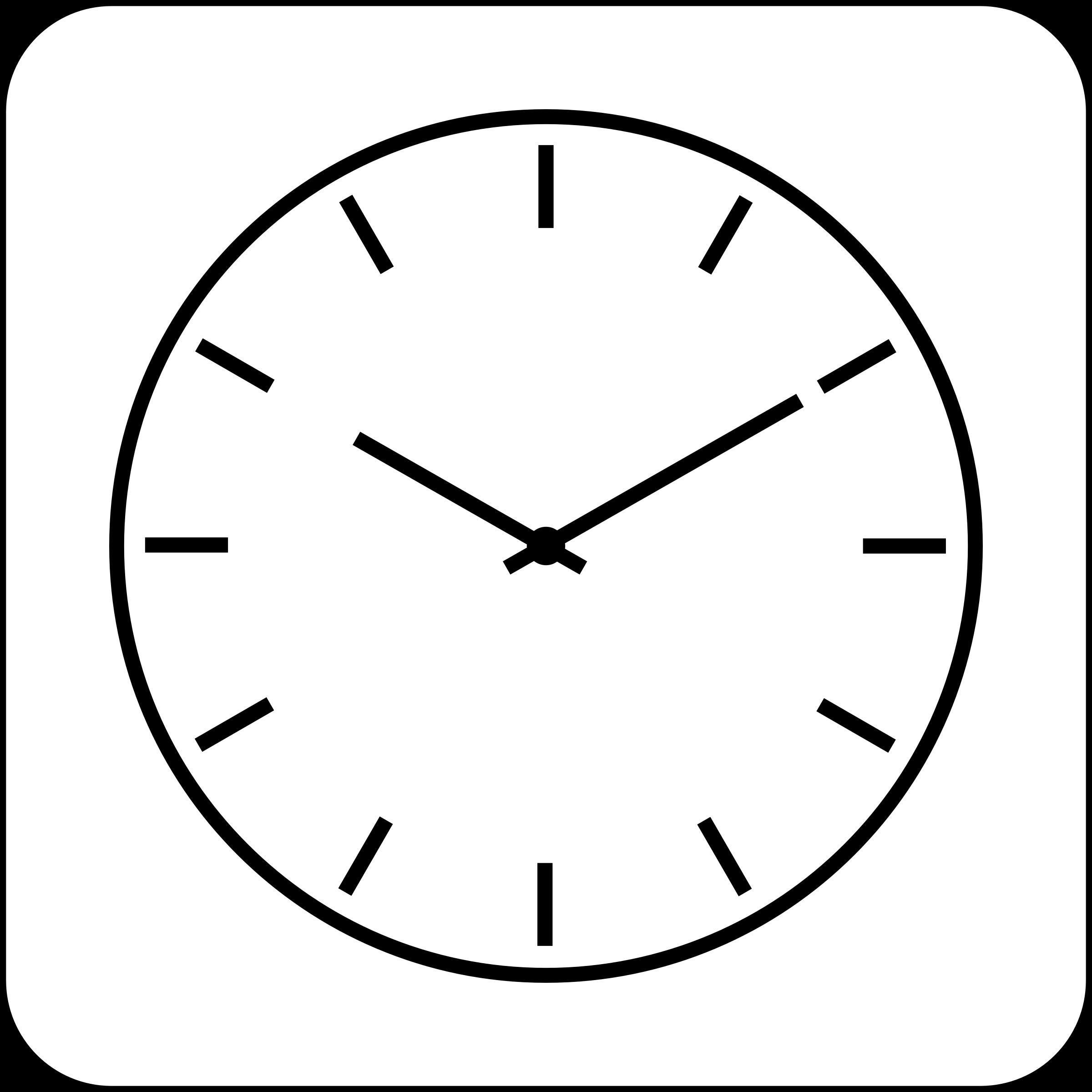 White clock icon clipart picture transparent library White Clock Icon #423717 - Free Icons Library picture transparent library