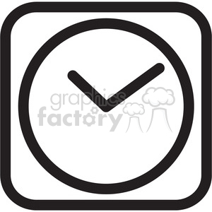 White clock icon clipart graphic free library clock icon . Royalty-free icon # 398347 graphic free library
