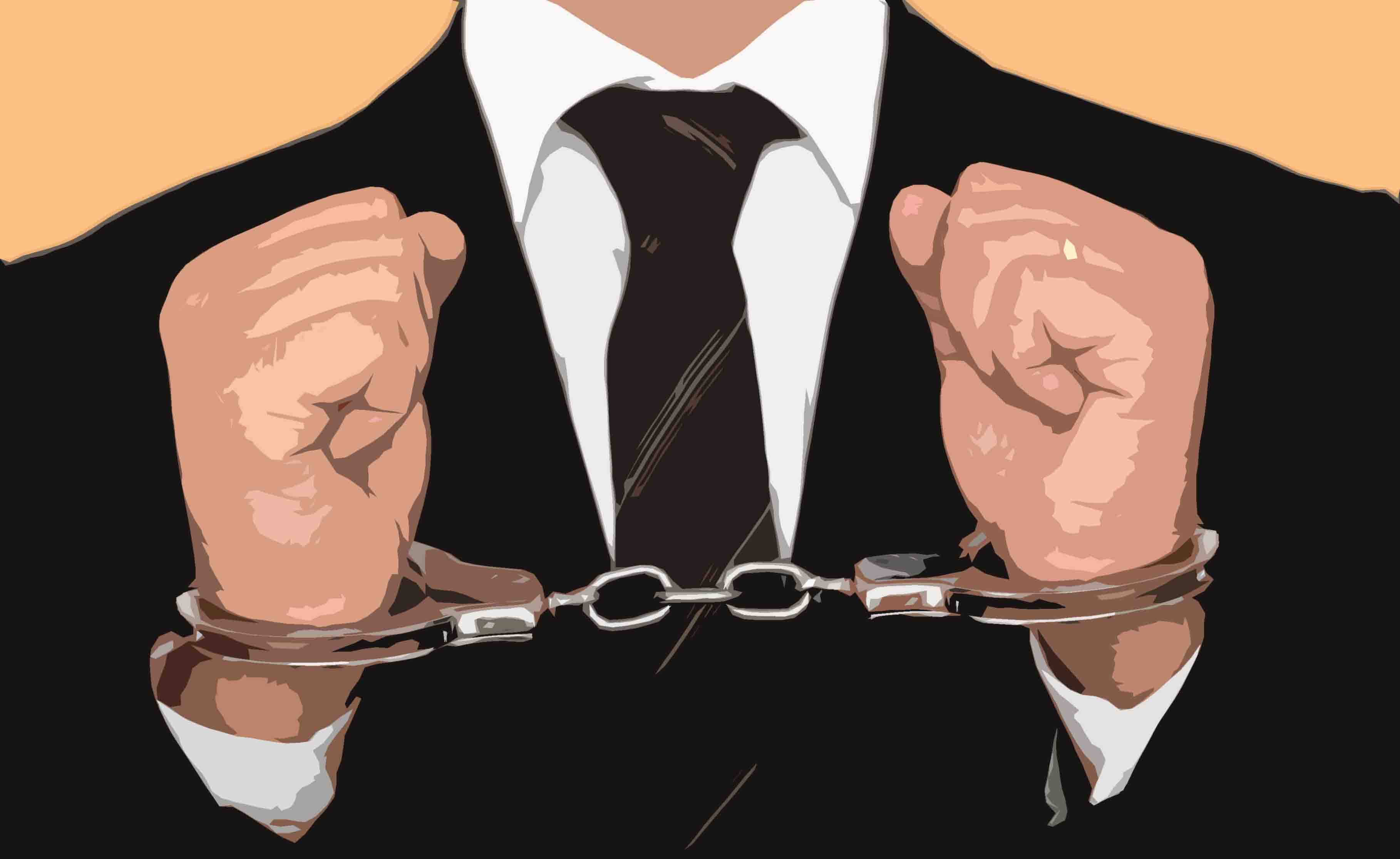 White collar crime arrest clipart jpg Prominent South Delhi businessman arrested by EOW for multi ... jpg