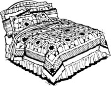 White comforter clipart clip art black and white download Free Bedding Set Cliparts, Download Free Clip Art, Free Clip ... clip art black and white download