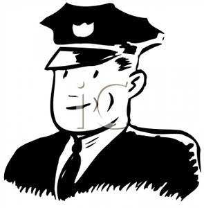 White cop clipart freeuse stock Black and White Cop - Clipart freeuse stock