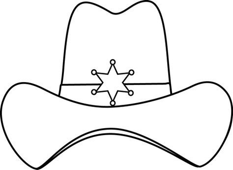 White cowboy hat clipart svg freeuse download sheriff printable | Black and White Sheriff Cowboy Hat Clip ... svg freeuse download