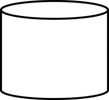 White cylinder clipart graphic free Cylinder black and white clipart 2 » Clipart Portal graphic free