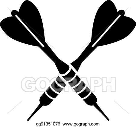 White darts clipart graphic free library EPS Illustration - Darts dart arrows crossed. Vector Clipart ... graphic free library