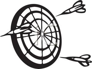 White darts clipart graphic freeuse Clipart Picture: Black and White Darts Around a Dartboard graphic freeuse