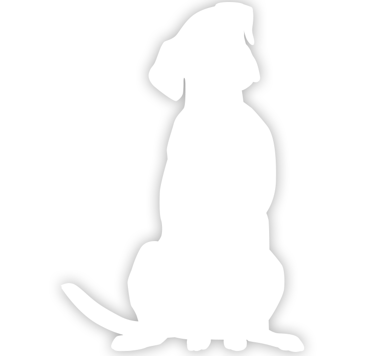 White dog bone clipart svg black and white library White Dog Silhouette at GetDrawings.com | Free for personal use ... svg black and white library