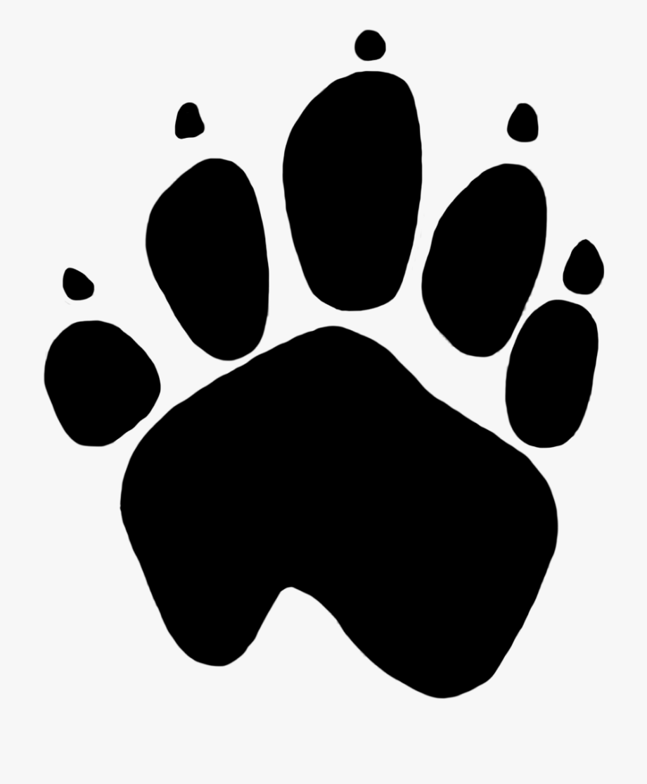 White dog paw print clipart transparent background jpg library Dog Paw Prints Png - Paw Print Png Transparent #74356 - Free ... jpg library