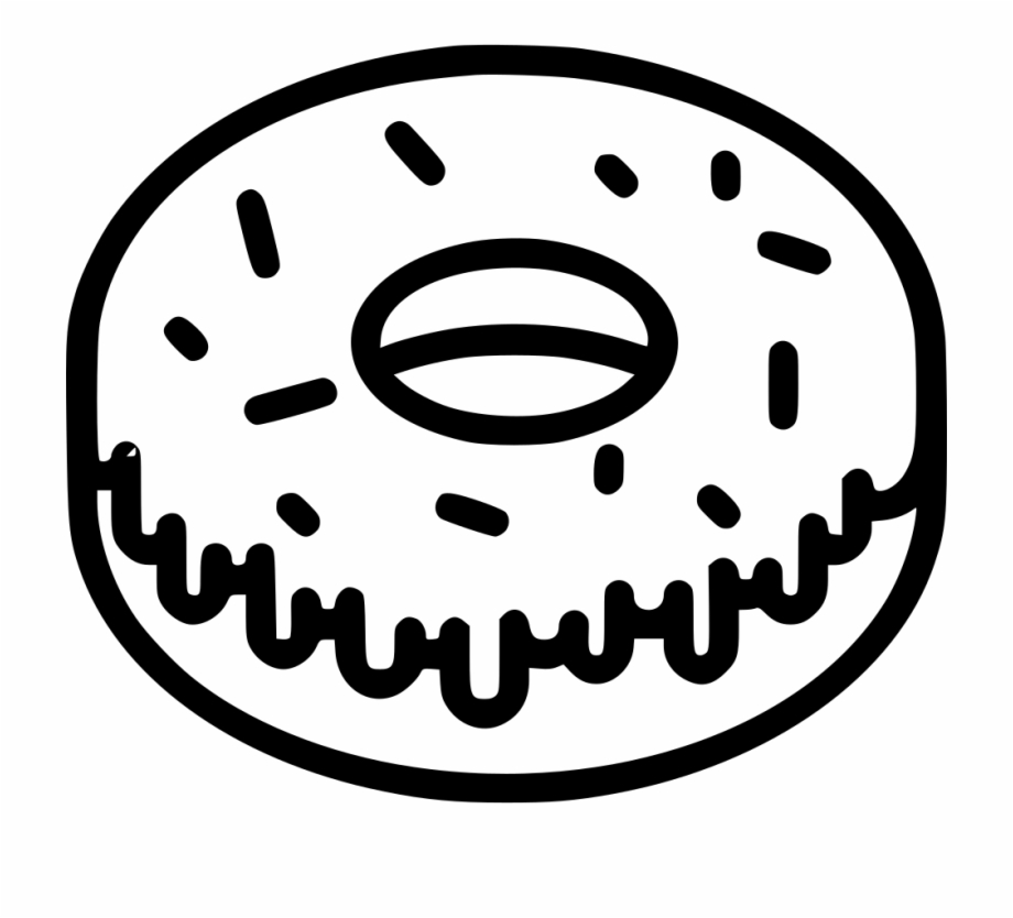 White donuts clipart vector free stock Doughnut Clipart Bitten - Donuts Clipart Black And White Png ... vector free stock