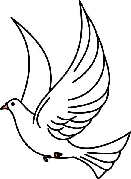 White dove clipart free clip black and white Free Dove Clipart | Free download best Free Dove Clipart on ... clip black and white