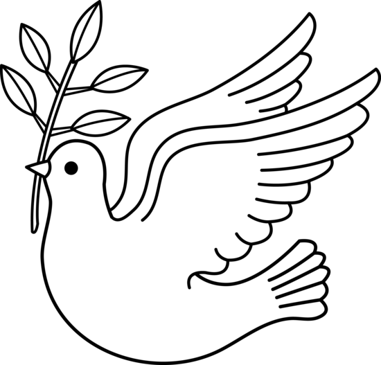 Love doves drawing clipart black and white svg transparent library free religious Christmas clip art | Peace Dove Line Art ... svg transparent library