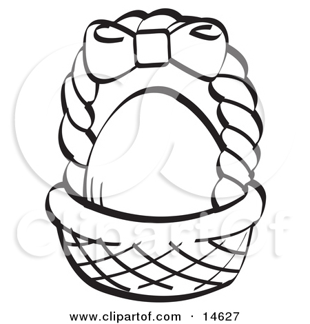 White easter basket clipart banner royalty free Clipart small easter basket black and white - ClipartFest banner royalty free