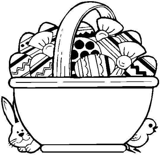 White easter basket clipart graphic free stock Easter basket clipart black and white - ClipartFest graphic free stock