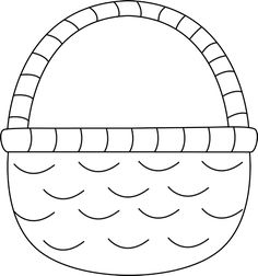 White easter basket clipart clip library download Easter Basket Clipart Black And White Images | Easter Day ... clip library download