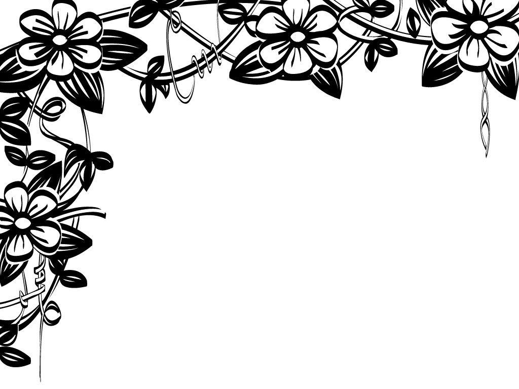 White flower border clipart clipart free download Flower border black and white flower clip art flower border ... clipart free download