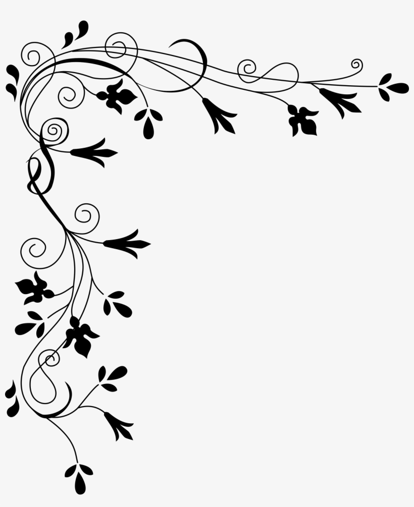 White flower border clipart picture black and white download 28 Collection Of White Flower Border Clipart Png - Flowers ... picture black and white download