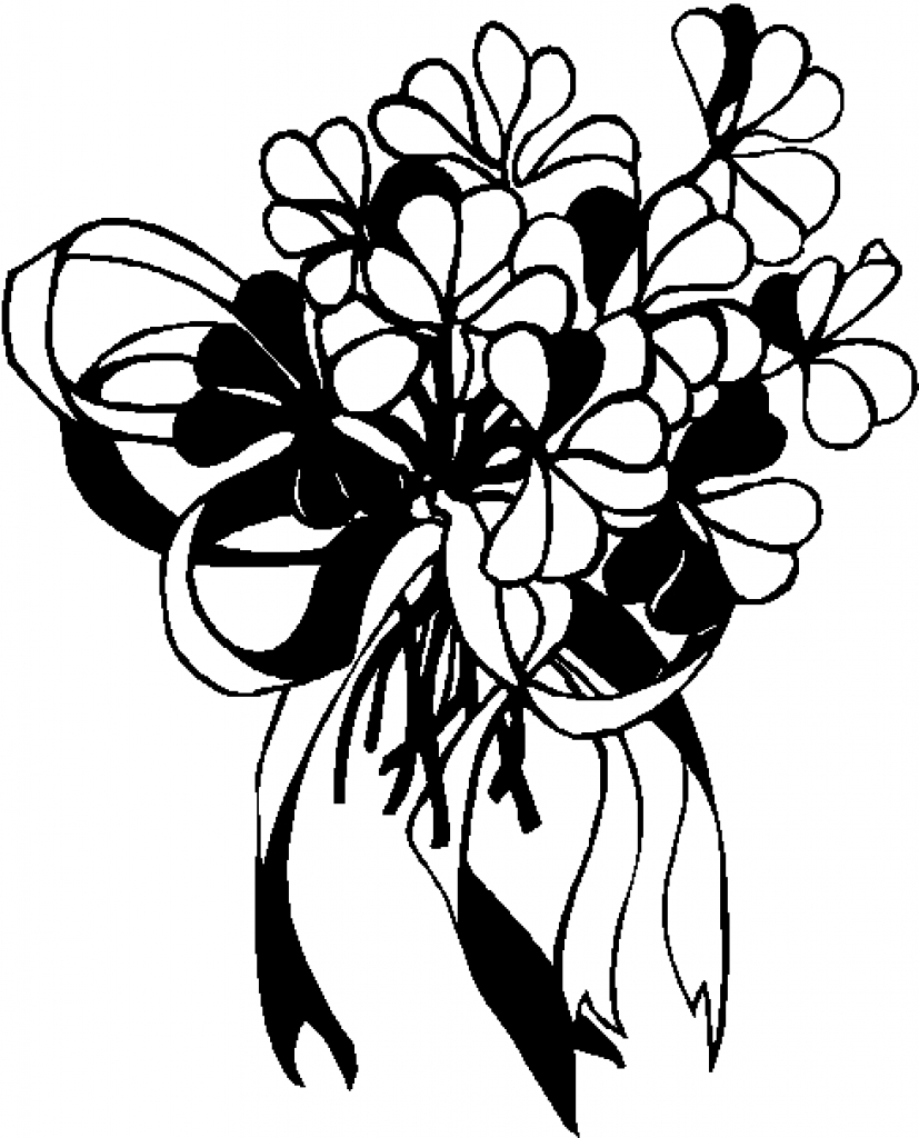 White flower bunch clipart free svg free stock Bouquet Clipart | Free download best Bouquet Clipart on ... svg free stock