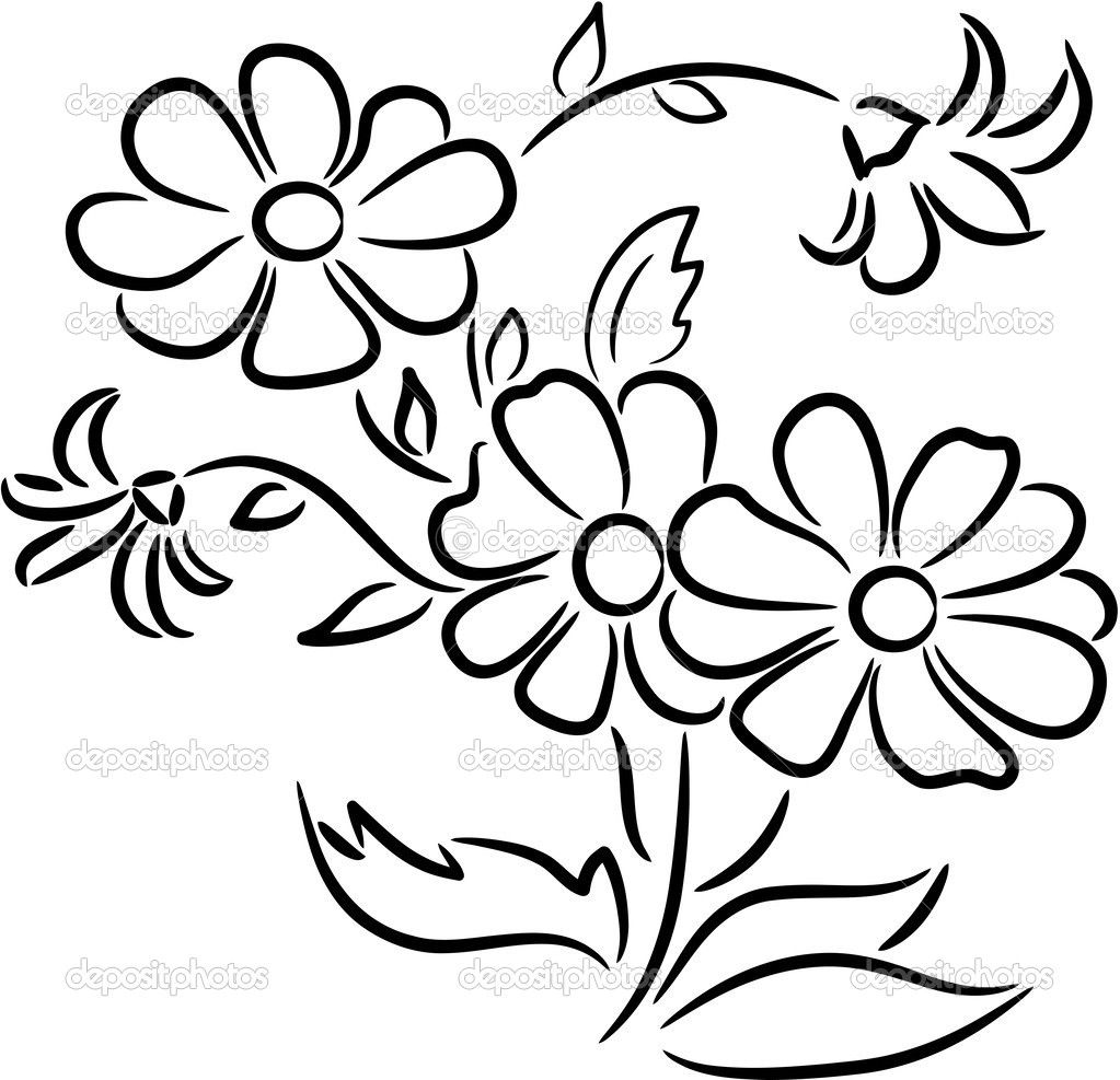 White flower bunch clipart free clipart transparent stock Bouquet Of Flowers Drawing | Clipart Panda - Free Clipart ... clipart transparent stock