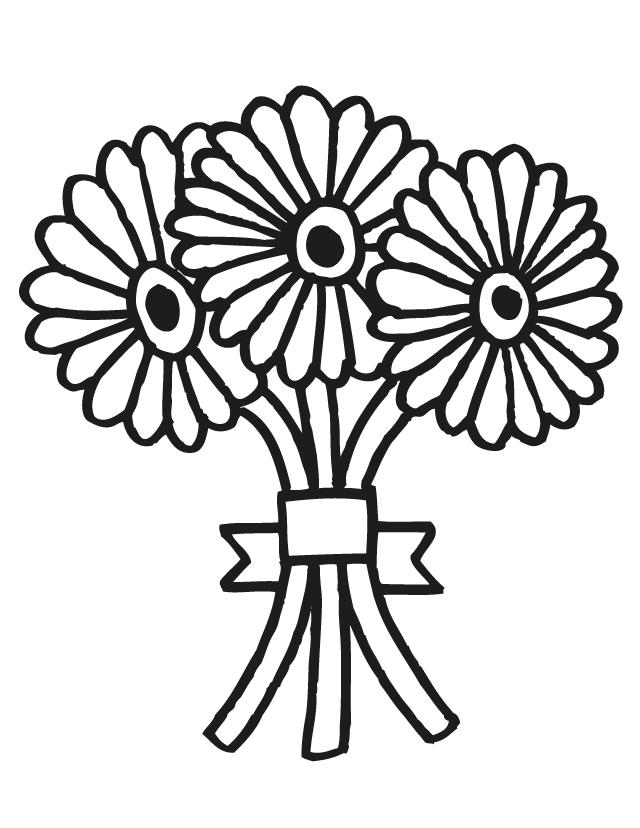 White flower bunch clipart free picture royalty free download Free Cartoon Bouquet Of Flowers, Download Free Clip Art ... picture royalty free download