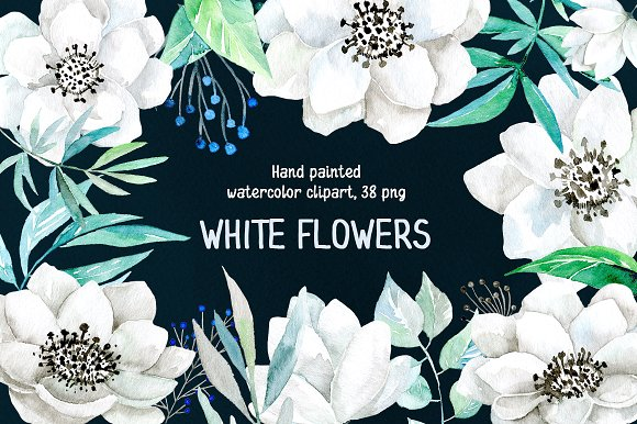 White flower green center watercolor clipart png jpg stock White flower green center watercolor clipart png - ClipartFest jpg stock