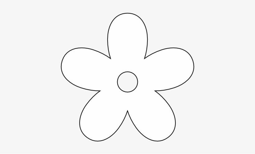 White flower petals clipart vector royalty free Clipart 5 Petal Flower Collection - White Flower Silhouette ... vector royalty free