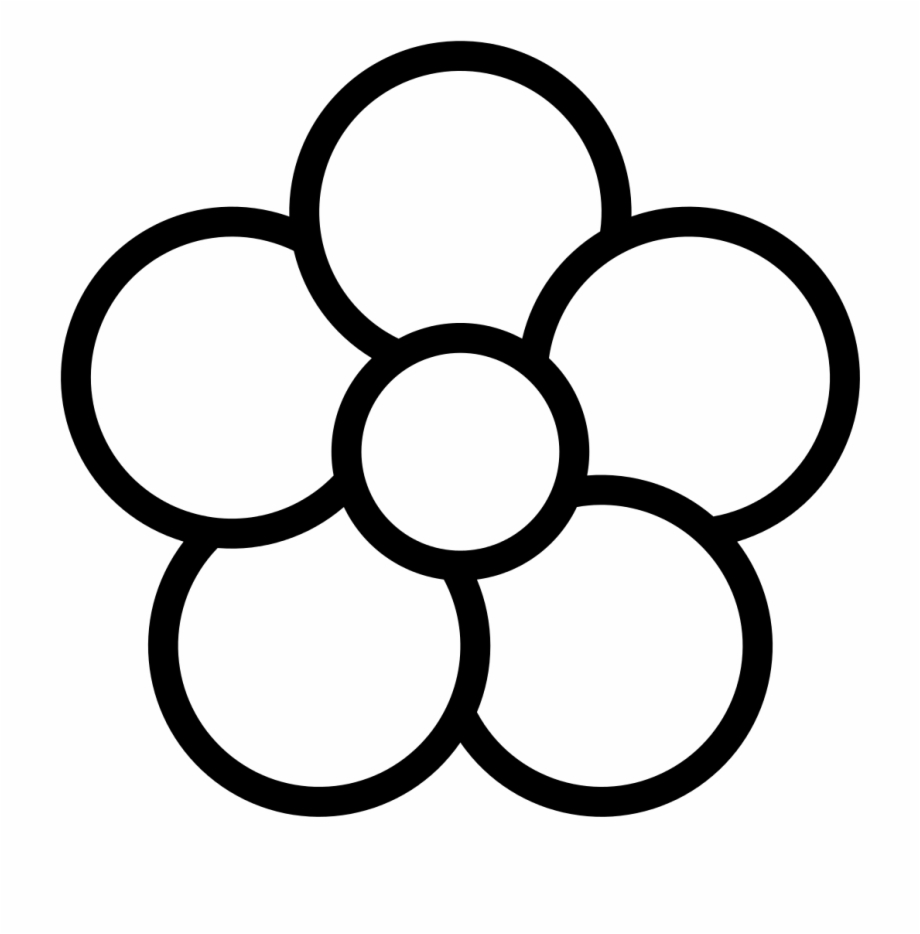 White flower petals clipart png freeuse stock Petal Clipart Flower Coloring - Flower Clipart 5 Petals ... png freeuse stock