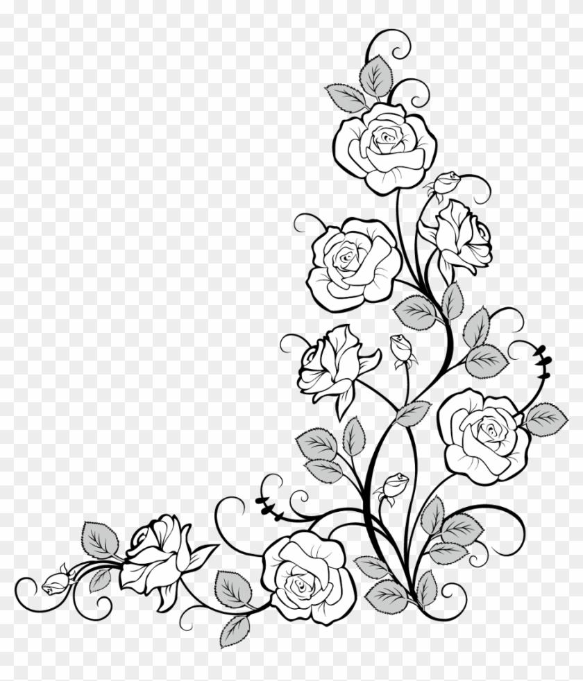 White flowers corner border clipart image library download frames #frame #corner #corners #borders #border #roses ... image library download