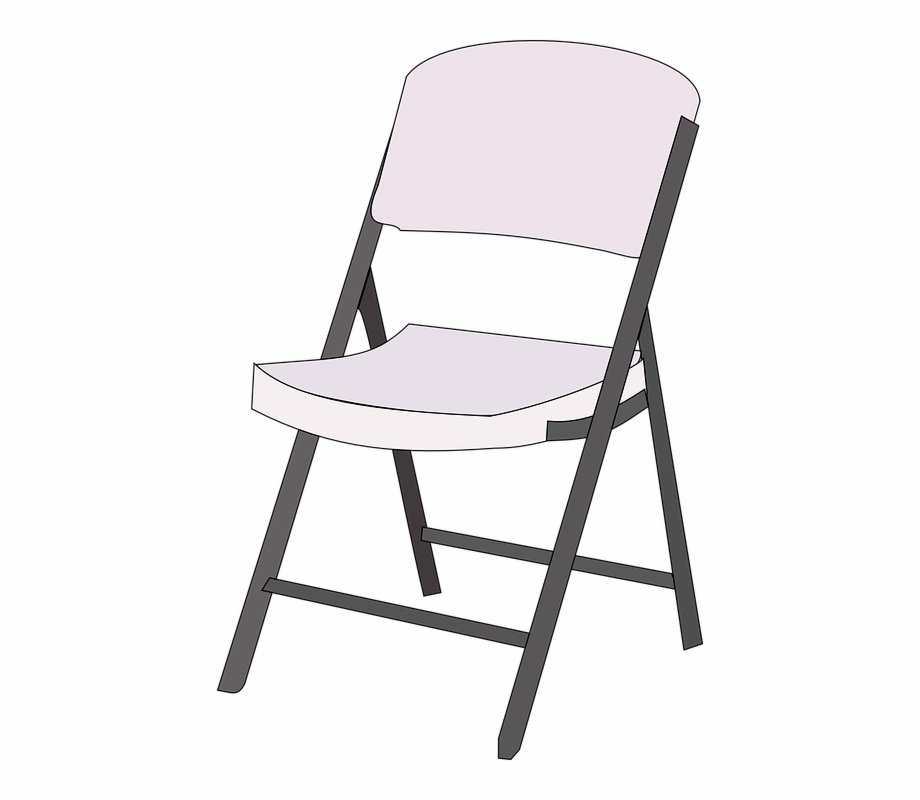 White folding chair clipart clip art black and white download Chair Furniture Folded Foldable Portable - Black And White ... clip art black and white download