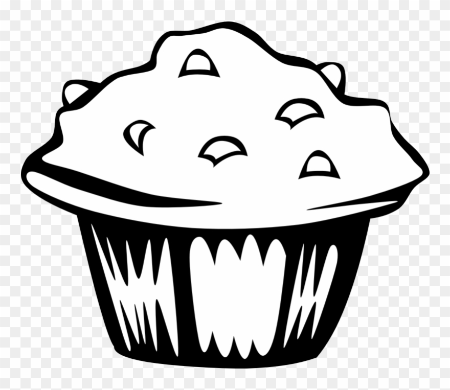 White food clipart banner freeuse download Muffin Clipart Black And White - Food Clip Art Black And ... banner freeuse download