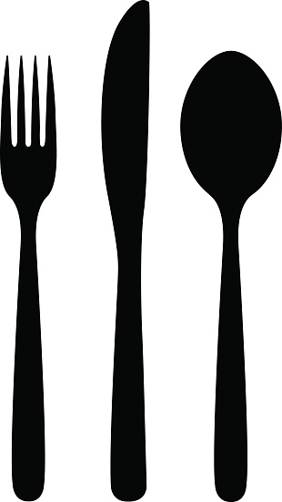 White forks and knife clipart clip art transparent stock Spoon Clipart Black And White | Free download best Spoon ... clip art transparent stock