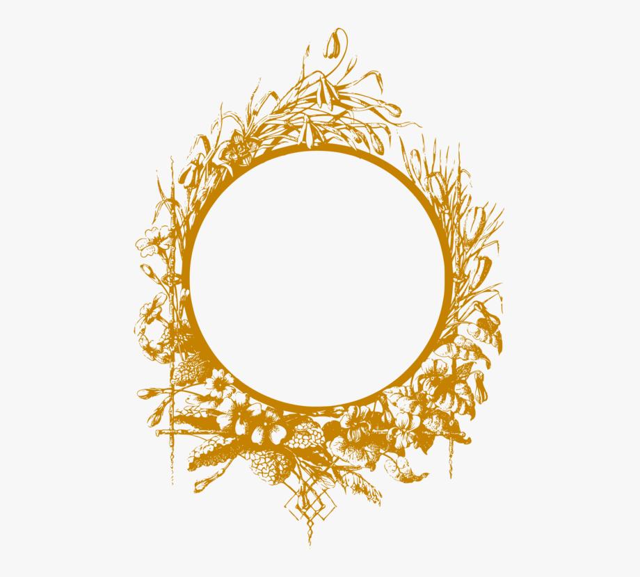 White frame gold trim clipart svg freeuse Picture Frames Gold Computer Icons Flower - Circular Golden ... svg freeuse