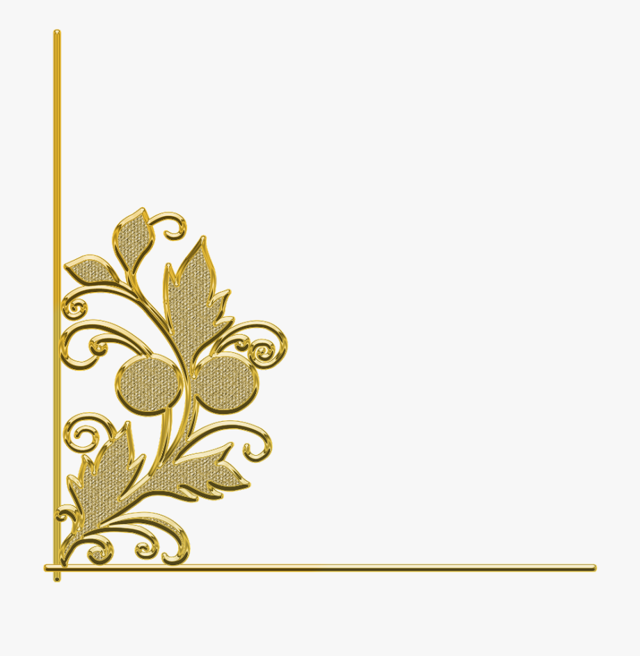 White frame gold trim clipart picture download ftestickers #border #corner #trim #leaf #flower #gold ... picture download
