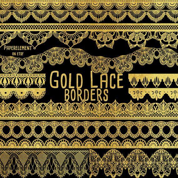 White frame gold trim clipart clip royalty free Gold Lace Borders: Gold Border Clipart Gold Lace Trim ... clip royalty free