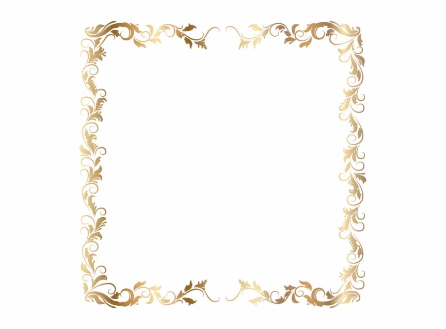 White frame gold trim clipart svg freeuse Border Deco Frame Gold Transparent Png Image Vector - Text ... svg freeuse
