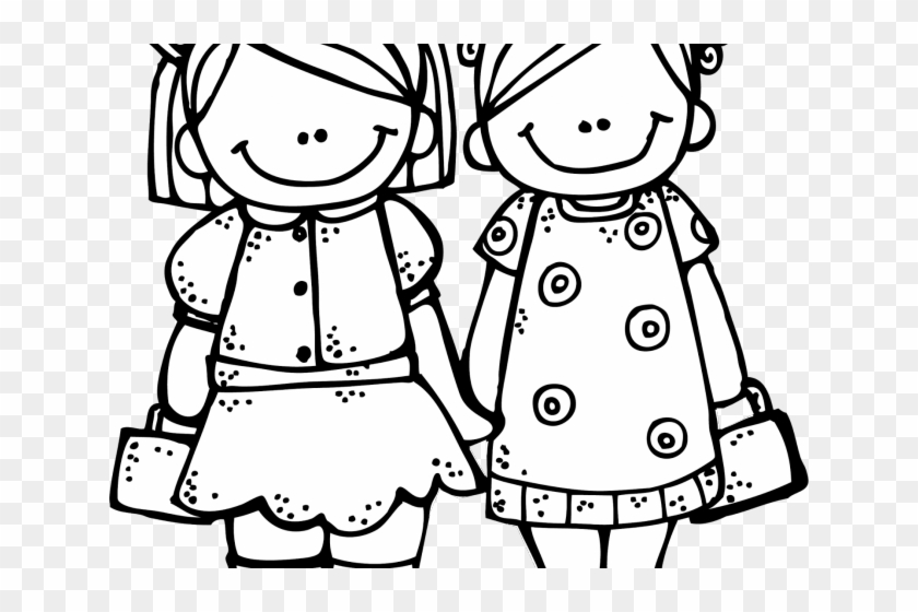 White friend clipart png vector black and white library Basketball Clipart Sister - Friend Clipart Black And White ... vector black and white library