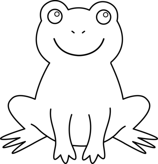 White frog clipart picture black and white Frog black and white frog black and white picture of frog ... picture black and white