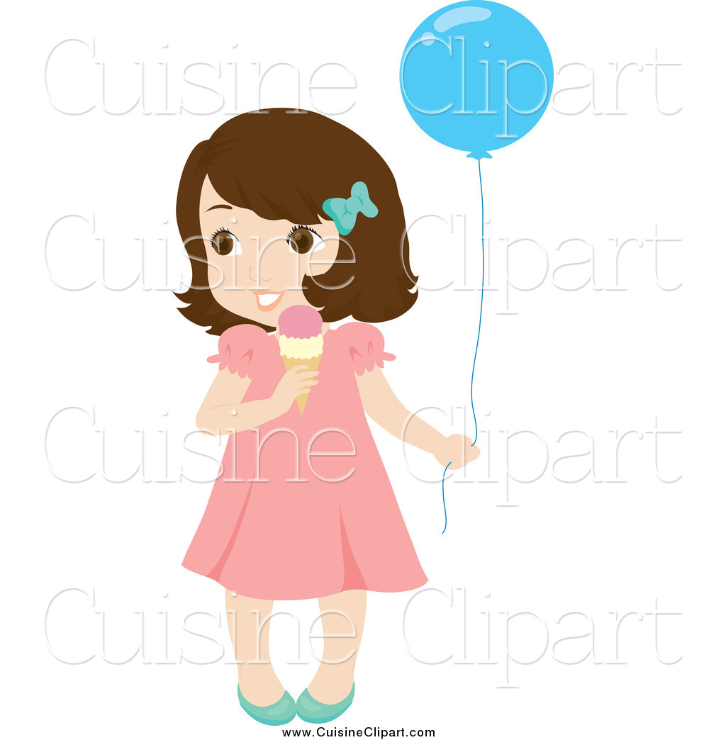 White girl clipart clipart freeuse download Cuisine Clipart of a Cute Little Brunette White Girl Holding ... clipart freeuse download